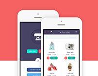 Meetbiz store app UI design