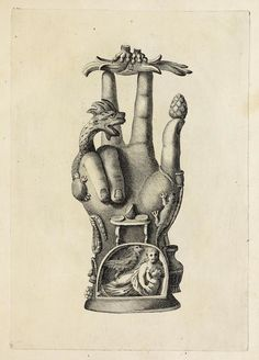 The Hand of Sabazius — from a wonderful catalogue published in featuring objects once found in the private museum of antiquities collector Giovanni Carafa.⠀ ⠀ Such ornate hands were a sacred symbol of the god Sabazius, a deity of fertili Occult Symbols, Occult Art, Masonic Symbols, Antique Illustration, Illustration Art, Masonic Art, Alchemy Art, Esoteric Art, Art Vintage