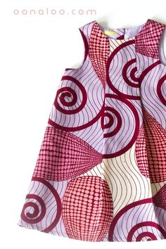A lovely African print girls dress. By Diyanu - African Plus Size Clothing at D'IYANU Ankara Styles For Kids, African Dresses For Kids, African Wear Dresses, African Children, African Print Clothing, African Print Fashion, Fashion Prints, Kids Clothing, Baby Dress Design