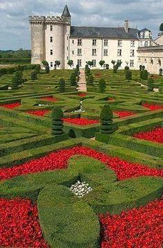 Villandry Chateaux, Loire Valley, France