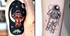 17 Astronaut Tattoos That Are Totally Out Of This World