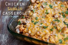 Don't settle for boring, bland food for dinner. Mexican Chicken Tamale Casserole will add a little spicy kick to your routine and is one of those easy casserole recipes that you just need to have repertoire. Mexican Dishes, Mexican Food Recipes, Dinner Recipes, Yummy Recipes, Yummy Food, Dinner Ideas, Recipies, Amazing Recipes, Meal Ideas
