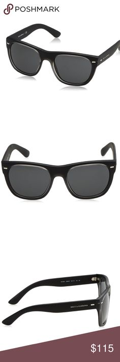 Dolce & Gabbana Sunglasses DG6091 BLACK  56/19/145 Brand New  💯% Genuine Dolce & Gabbana Men's Sunglasses  *Model DG 6091 MATTE BLACK  56/19/145  NEW   *Top Crystal / Black Rubber / Grey  Features * Authentic Dolce & Gabbana Composite Frame * glass lens * non-polarized * Lens width: 56mm  * Bridge: 19 mm * Arm: 145 mm  Don't miss this deal!!! these sunglasses were bought from Macy's for over $350.   ASIN- B00NH9CB2Q Dolce & Gabbana Accessories Sunglasses