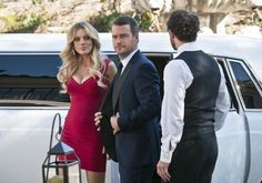 """Operation Black Tie On NCIS: Los Angeles Bar Paly as Anastasia """"Anna"""" Kolcheck and Chris O'Donnell as G. Callen"""