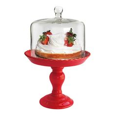 I pinned this Stella Pedestal Cake Plate in Red from the Olson & Eaves event at Joss and Main!