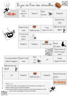 Le jeu de l'oie des citrouilles : dizaines et unités CE1