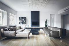 Living minimal in bianco e nero