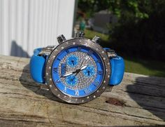 Freeze Ladies Chronograph Diamond Watch .45ct   Pre Owned #Freeze #Casual