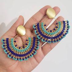 Chandelier Earrings, Beaded Earrings, Statement Earrings, Crochet Earrings, Bead Embroidery Jewelry, Beaded Embroidery, Jean Crafts, Earring Trends, Aspirin