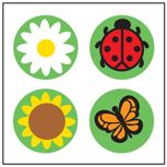 #Spring is here! Daisy and bug incentive sticker pack!