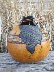 Images of gourd art created by Steve Hosch, a Gilbert, Iowa, mixed media artist. Pumpkin Crafts, Gourd Crafts, Hand Painted Gourds, Feather Art, Gourd Art, Art File, Mixed Media Artists, Nature Crafts, Native American Art
