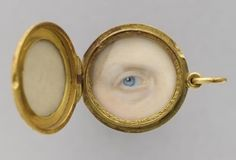The eye of Marie-Clémentine, Archduchess of Austria and princess of Salerno (1798-1881), artist unknown...