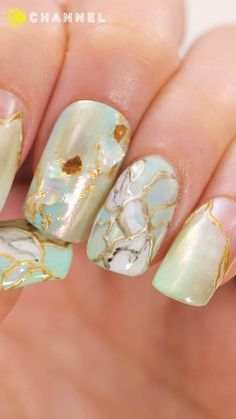 Nail Art Designs Videos, Nail Art Videos, Diy Nail Designs, Simple Nail Designs, Fall Nail Art, Glitter Nail Art, Nail Art Hacks, Nail Art Diy, Japanese Nail Art