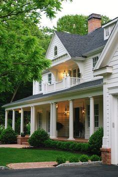 grace(ful things)  Porch / arborvitae bushes