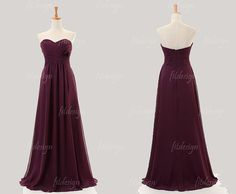 burgundy bridesmaid dress long bridesmaid dress cheap by fitdesign, $119.00