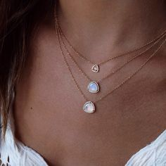 A trio of petite triangles makes any night better #moonstone #topaz #lunaskyejewelry