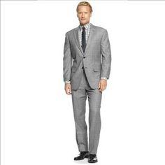 Tasso Elba Flannel 2 PC. Plaid Suit – Size: 40R x 34W – Retail: $595. | Property Room