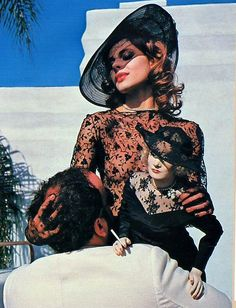 Nastassja Kinski with Marlene Dietrich doll by Helmut Newton, Hollywood, 1983