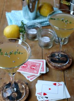 Lavender Thyme Sour. Spend a classy evening out on your porch with this updated twist on the Whiskey Sour.