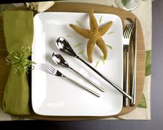 Amazon.com: Fortessa Dragonfly 18/10 Stainless Steel Flatware Set, Service for 1, 5-Piece: Home & Kitchen