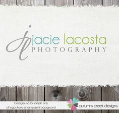 Custom Premade Photography Logo and Watermark Design Name Text Logo