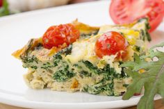 Frittatas are very easy to make and make a great breakfast, easy snack or even a light dinner. You can put most anything into a frittata. In this one I put bacon and kale which make a delicious combination.