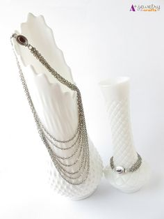 Necklace silver necklace multi strand by APlusJewelryCrafts, $35.00