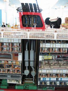 Disney Cruise Ship Model - Engine Cross-Section