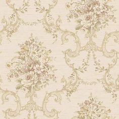 Nantucket Rich Cream, Dusty Rose, Softest Grey Blue, Muted Yellow, Greens And Ld Floral, O