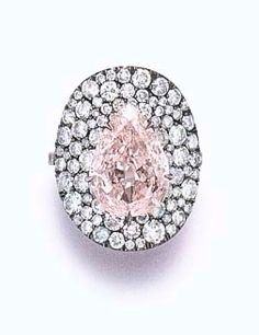 "A COLORED DIAMOND ""BONNET"" RING, BY JAR.  Formerly in The Collection of Ellen Barkin."