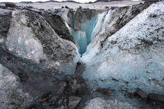 Zinkgat in een gletsjer