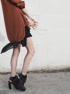 sweater + slip + alexander wang boots