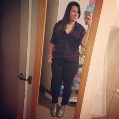 plaid and metallic boots