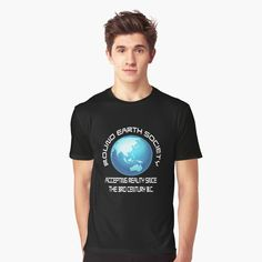 Round Earth, My T Shirt, I Shop, Graphic Tees, Mens Fashion, Humor, Printed, Awesome, Mens Tops