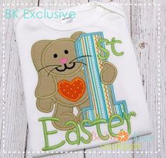 Baby Kay's Appliques - 1st Easter Bunny 4x4, 5x7, 6x10, 8x8, $4.00 (http://www.babykaysappliques.com/1st-easter-bunny-4x4-5x7-6x10-8x8/)
