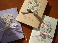 お花のクラフトパンチで簡単手作りカードの作り方