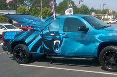 Carolina Panthers Fan's Truck Will Make Any NFL Fan Jealous