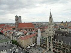 View of Marienplatz from St. Peter's church tower