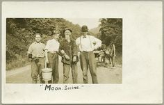 Moon-Shine (unidentified group portrait) Not dated Leo J. Beachy (1874-1927) Leo J. Beachy Photograph Collection Maryland Historical Society  Beachy, native to Garrett County, MD, mostly photographed the scenic rural life around him as well as people.