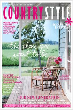 country style, an australian shelter magazine Outdoor Areas, Outdoor Chairs, Outdoor Furniture Sets, Outdoor Decor, Country Style Magazine, Porch And Balcony, Flea Market Style, Victorian Homes, Garden Inspiration