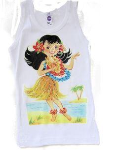 Hula Girl shirt. Vintage Lucy's.