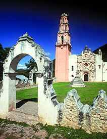Tilaco Mission in Landa, Queretaro, Mexico  www.tourbymexico.com
