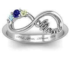 "Mom's Infinite Love with Stones"" Ring #jewlr #Infinityring"