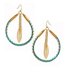 Mesilla Rope and Feather Earrings