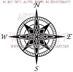 celtic knot compass