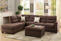 Poundex 3-Pcs Sectional Sofa F7613