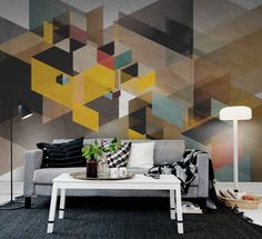 Fractal wall murals - wallpaper - | Rebel Walls