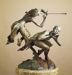 "Richard McDongald ""Joie De Femme, Half Life, Draped"" Bronze sculpture"