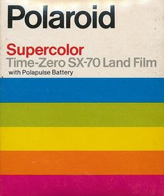 Polaroid film time zero - probably the 60's  Mom never went anywhere without her Polaroid camera. Remember the anticipation of waiting to peel the back off.  Oh and waving it so it would dry faster???