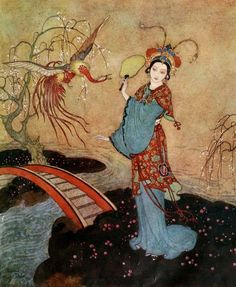 'Princess Badoura - a tale from the Arabian nights' retold by Laurence Housman; illustrated by Edmund Dulac. Published 1913 by Hodder and Stoughton, London.
